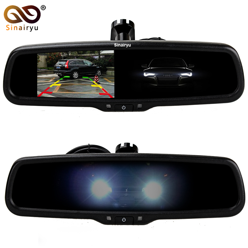 Auto Dimming HD 800*480 Special Bracket 4.3 TFT LCD Car Parking Rear View Rearview Mirror Monitor Video Player 2 Video Input oem auto dimming rear view mirror with 4 3 inch 800 480 resolution tft lcd car monitor built in special bracket