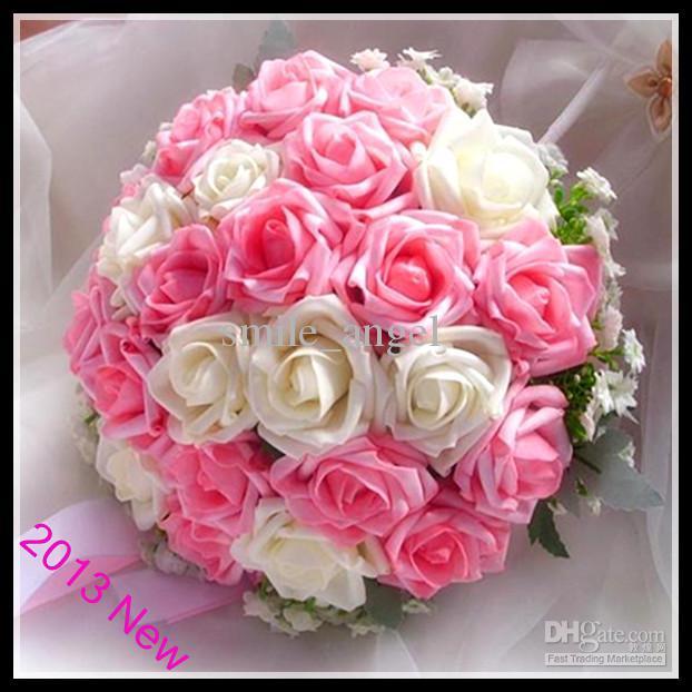 Wholesale Unique Blue Rose Pink Rose best Flowers Wedding Bridal ...