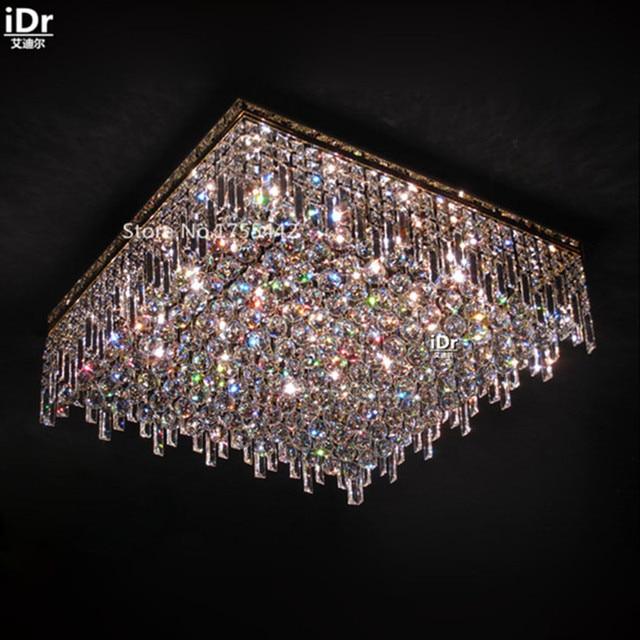 Rechteckige Kristall Lampen Schlafzimmer Modernen Minimalistischen