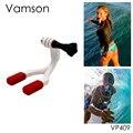 Go pro Accesorios Boca Conector Mount Set Tirantes de Surf Surf Para gopro hero 4 3 + sj4000 cámara xiaomi yi envío libre vp409