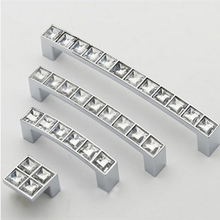 Crystal Diamond Furniture Hardware Handle Door Drawer Wardrobe Kitchen Cabinets Cupboard Pull Knobs Handles Accessories