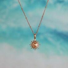 Новейший 316L медальон в форме солнца ожерелье Popsocket винтажная бусина шар солнце цветок ожерелье для женщин пляж девушка лучший подарок