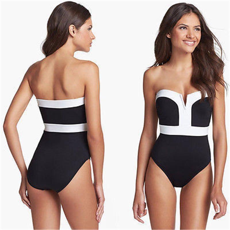 Women's Bikini Spandex Cotton Worsted V-Neck Swimsuit Sexy Bathing Swimwear Bikini Set