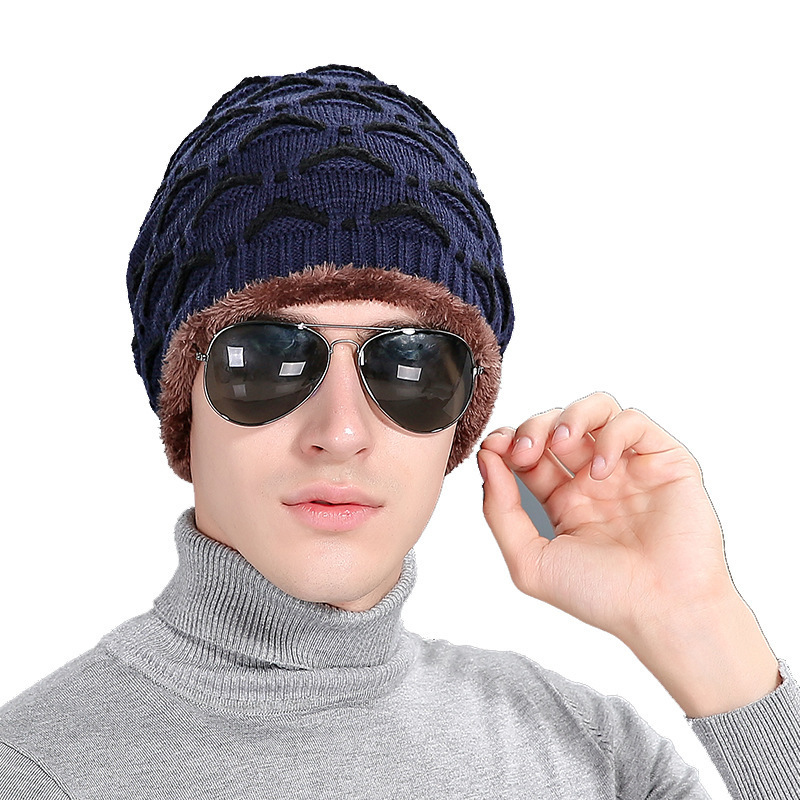 2016 New Arrivals Embroidery Stripe Men Wool Winter Hat balaclava Outdoors Ski Warm Increase Knitting Cap beanie gorro masculino new winter male and female cartoon glasses color embroidery knitting wool hat warm hat hedging hat skullies m144
