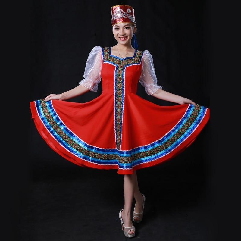 Custom Made Russian Folk Dance Costumes With Headwear Head Russia Stage Dancing Wear Retail ...