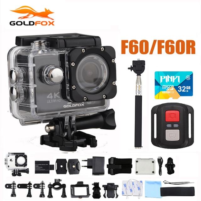 R$ 156 33 29% de desconto|GOLDFOX F60/170D F60R 4 K 30FPS Câmera de Ação  Esporte 1080 P 60FPS WI FI Mini Câmera 30 M Ir À Prova D' Água Pro