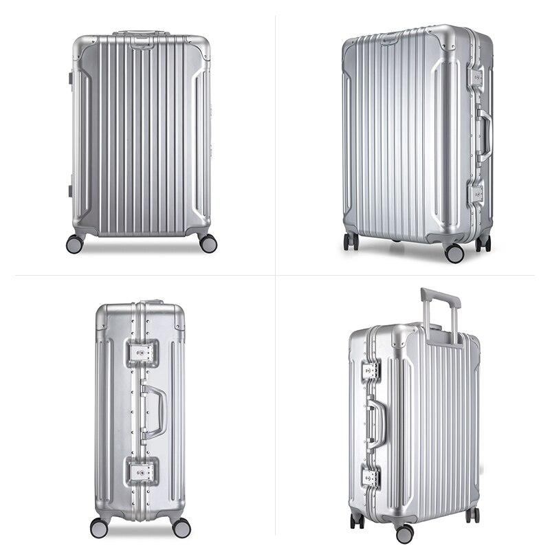 Hanke cadre en alliage d'aluminium bagages boîtier de chariot hommes valise femmes Spinner roues roulant bagage PC Shell 20 24 28 pouces H9939 - 2