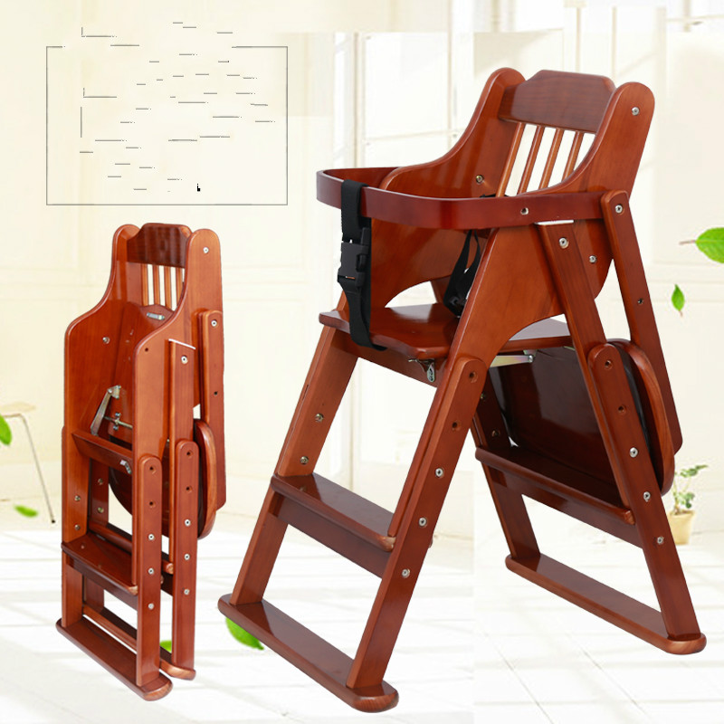 Highchairs baby child eat wood folding chair seat multifunctional portable baby chair pouch multifunctional highchairs portable foldable infant seat chair baby to eat