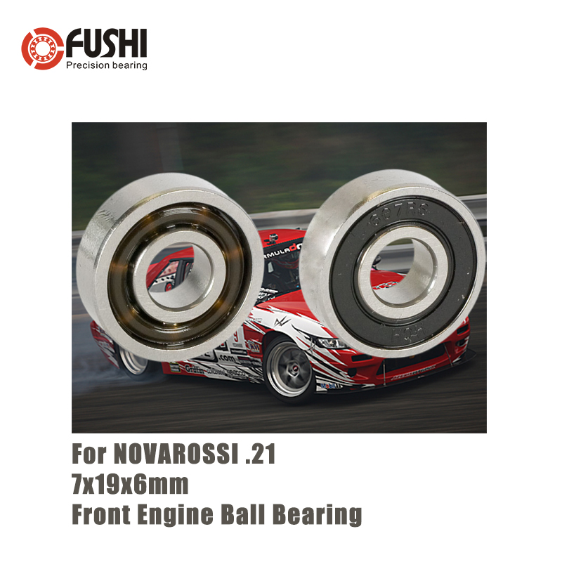 MR607E <font><b>2RS</b></font> 7x19x6mm Front Engine Ball <font><b>Bearing</b></font> 1PC Double Sealed ABEC-3 C3 <font><b>Bearings</b></font> For NOVAROSSI .21 OFF-ROAD 607RS RC Car T9H image