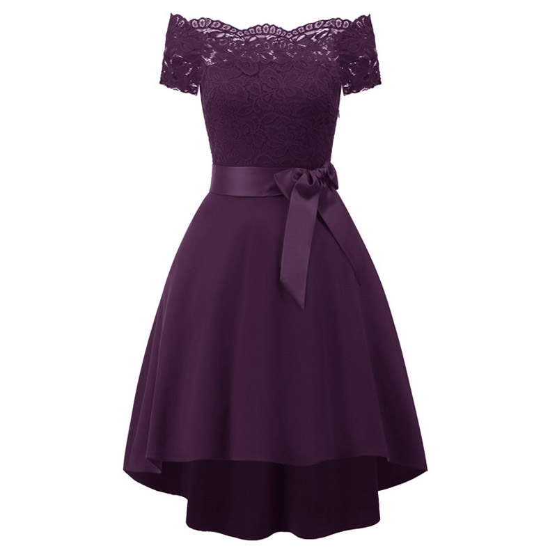 Robe De Soiree Elegant Short Evening Dress New Stylish Bowknot Formal Dress Party Dresses Short Sleeves Evening Gown