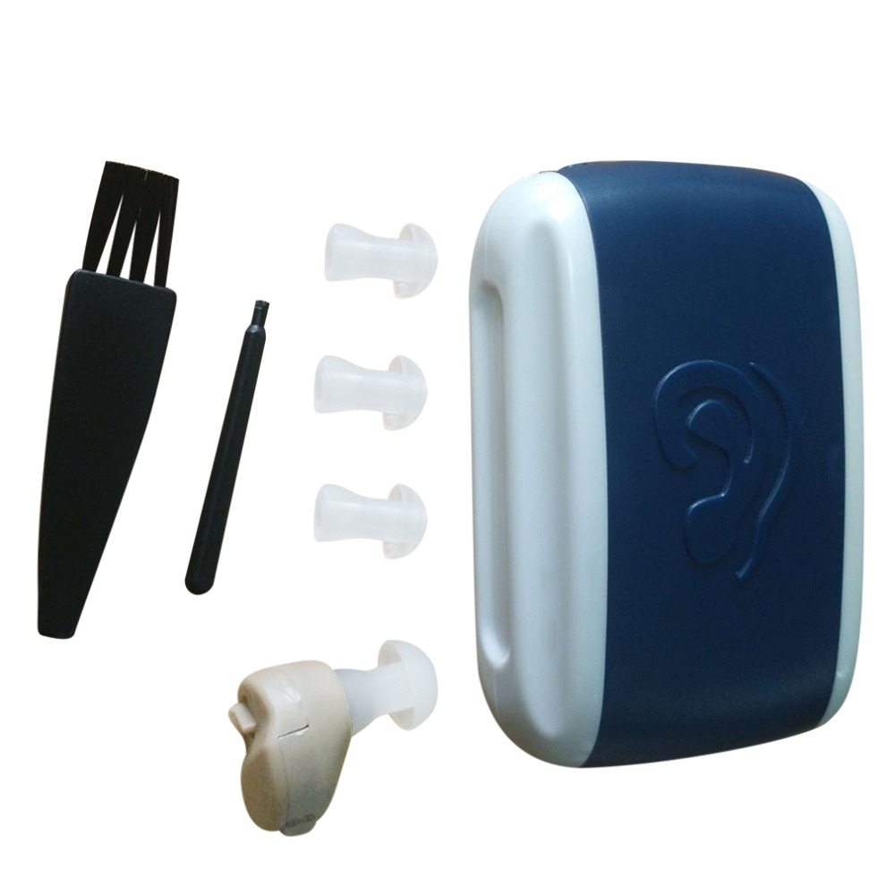 Pequeño portátil en la oreja Sonido Amplificador de voz Tono ajustable Mini Audición Ayuda auditiva Convenientes audífonos Venta caliente Envío gratis