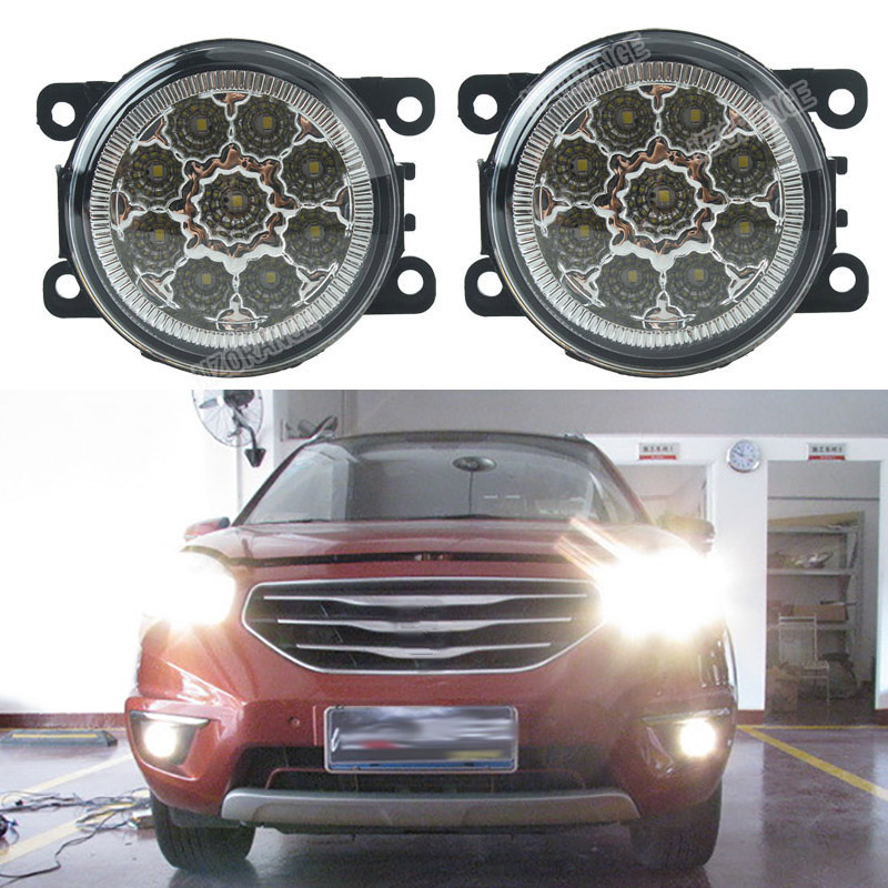 car-styling DRL Fog Lamps Lighting LED Lights For Renault DUSTER LATITUDE LOGAN Laguna MEGANE 2/3/CC Saloon LS LM0 LM1 for renault megane 2 saloon lm0 lm1 2003 2015 car styling 6000k white 10w ccc high power led fog lamps drl lights