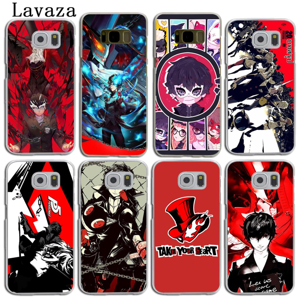 Lavaza p5 P Persona 5 Hard Skin Phone Shell Case for Samsung Galaxy S7 S6 Edge S8 S9 Plus S3 S4 S5 & Mini S9 Cover