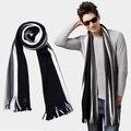 Зима bussiess кисточкой шарф мужчины 10 цветов luxury brand полосатый искусственного кашемир шарфы пашмины шали, платки écharpe hiver homme