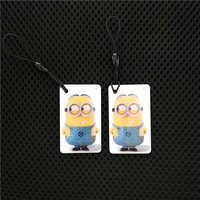 1Pcs/lot UID Changeable 1K S50 13.5MHZ Rewritable Blank Card Chinese Magic 1K NFC RFID Keyfob Cartoon Trinket Key Ring Token Tag