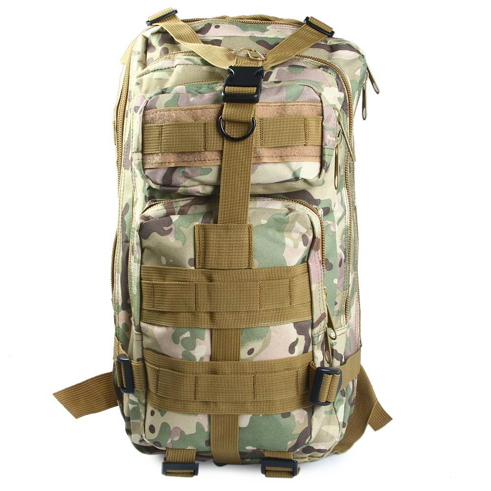 2017 3P Outdoor Military Tactical Backpack 30L Molle Bag Army Sport Travel Rucksack Camping Hiking Trekking Camouflage Bag 4