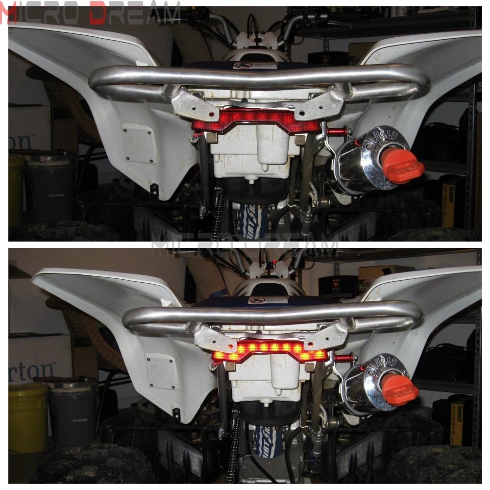 1 pièces ATV Quadsport en plastique frein à LED feu arrière pour Suzuki LTR 450 LTR450 rouge Stop feu arrière - 6