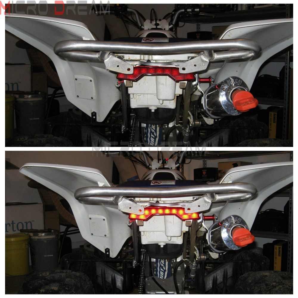 1pcs ATV Quadsport Plastic LED Brake Taillight For Suzuki LTR 450 LTR450  Red Stop Tail Lamp