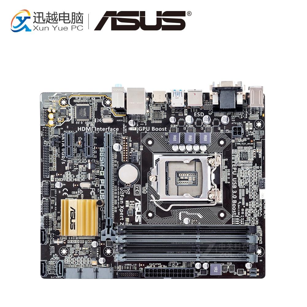 Asus B85M-G PLUS Desktop Motherboard B85 Socket LGA 1150 i7 i5 i3 DDR3 32G SATA3 USB3.0 Micro-ATX asus b85m v5 plus desktop motherboard b85 socket lga 1150 i7 i5 i3 ddr3 16g sata3 micro atx