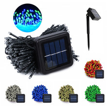 200 LED Solar String Fairy Lights Outdoor Waterproof Lighting Garden Christmas Garland 8 Mode Solar Powered Lamp Fairy Light 22M(China)