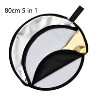 GODOX 32 80cm 5 In 1 New Portable Collapsible Light Round Photography Photo Reflector For Studio