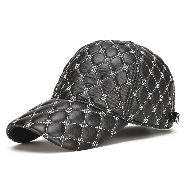 A single man Lingge baseball cap layer of sheepskin sheepskin really men's hat a single man