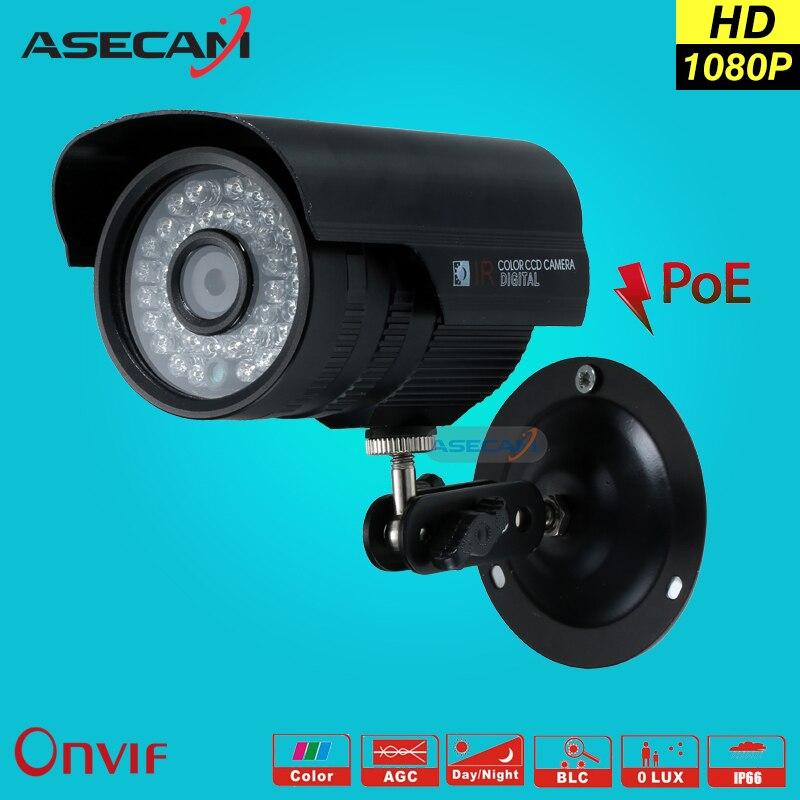 HD 1080P IP Camera POE Hi3516C 36*LED Infrared Night Metal Black Bullet Outdoor Security Network Onvif H.264 Surveillance P2P hjt full hd 1080p ip bullet camera 36ir night vision hi3516c sony imx323 security outdoor onvif 2 1 rtsp ftp network p2p h 264