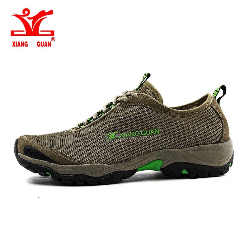 6e0074bb15 Cheap XIANG GUAN hombre cómodos zapatos de senderismo transpirables,  escalada al aire libre Trekking malla