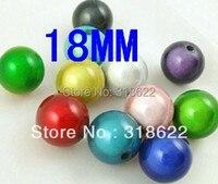 Groothandel! 21 kleuren 18mm Miracle Kralen, Acryl Chunky Kralen, Dream Gumball Bead DIY Sieraden Bevindingen (100 g/Set) gratis Verzending