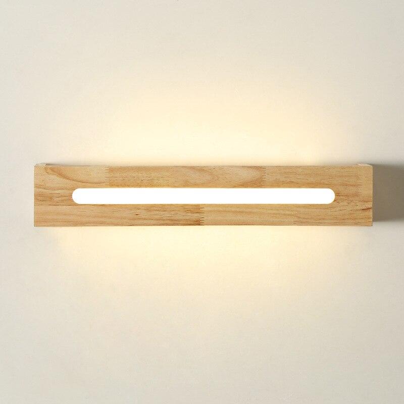 breve moderna luce led specchio bagno illuminazione lampade in legno lampada da comodino in legno led