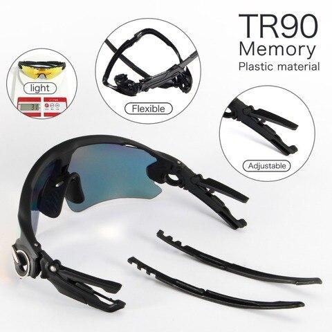 Men Women 3 Lens Polarized Bike Sunglasses Mountain Road Bicycle Glasses Sports Camping Hiking Fishing Goggles Cycling Eyewear Karachi