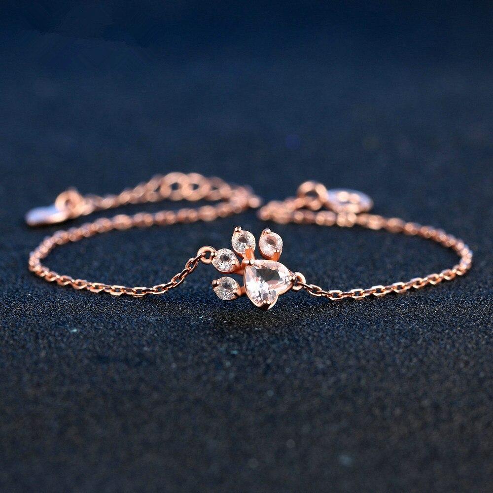 2018 Fina smycken Tassut Cat Dog Paw Claw Print Armband för kvinnor - Fina smycken
