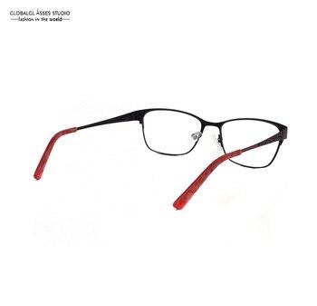 Schwarze Brillengestelle | Große Rand Metall Brillen Frauen Shiny Rosa Auf Schwarz Leopard Muster Rot Opral Spitze Rezept Optische Gläser Rahmen 0930-X