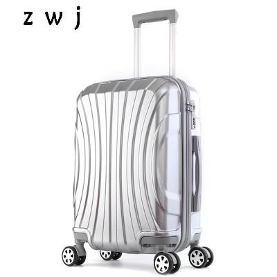2018 Neue Aluminiumrahmen Travel Koffer Viagem Com Rodinhas Rollgepäck Tragen Auf