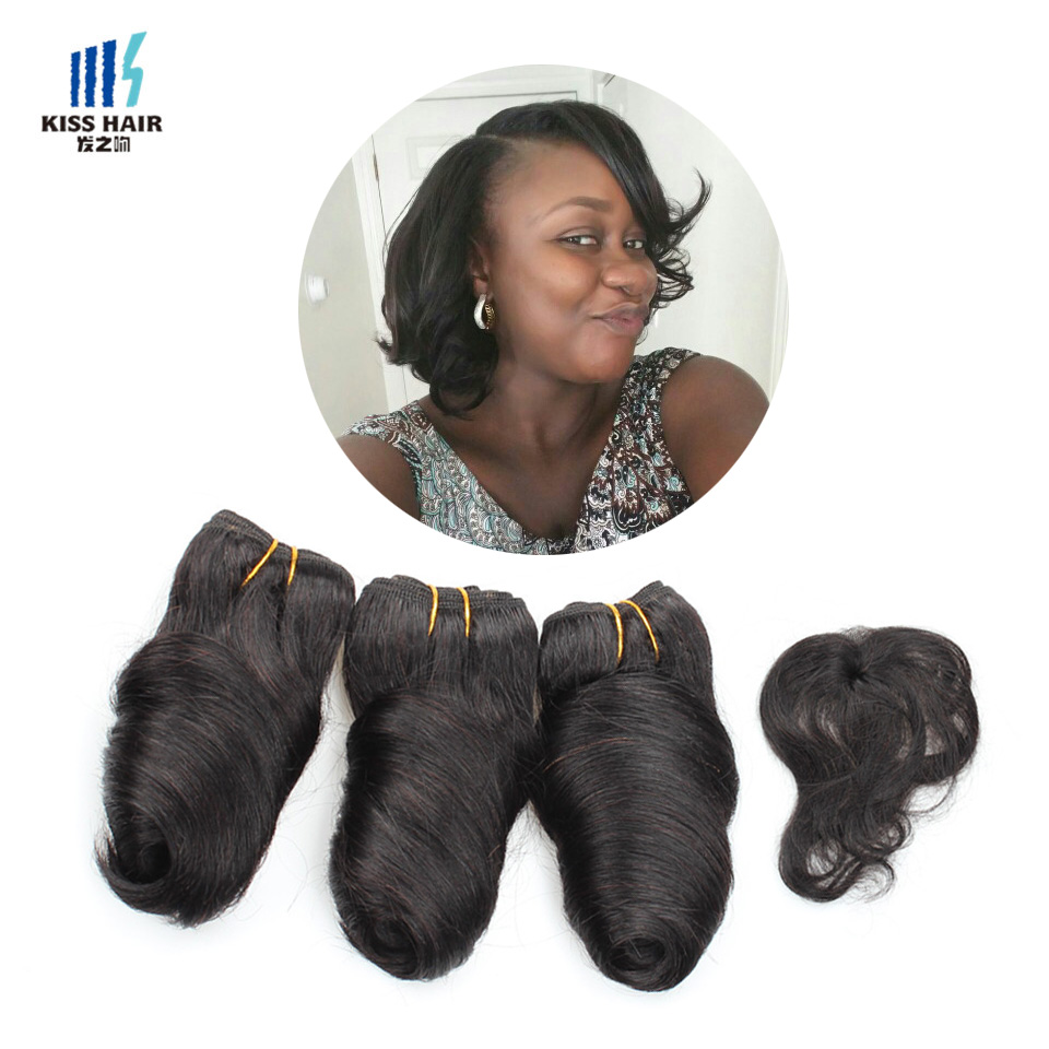 Romance Curl 8 inch Brazilian Body Wave Virgin Hair Unprocessed Human Hair Weave Fashion Star Style Short Bob Style 3Pcs 165G