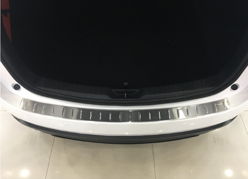 KOUVI Stainless Steel Accessories Rear Bumper Protector Sill plate cover For Mazda CX5 CX-5 2017 KF Series Car Styling