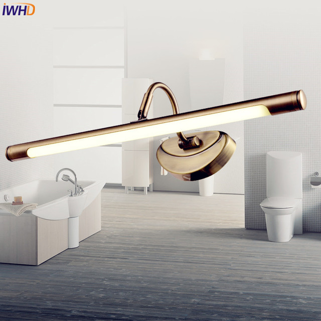 IWHD Amerikaanse Vintage LED Badkamer Licht Dressoir Messing ...