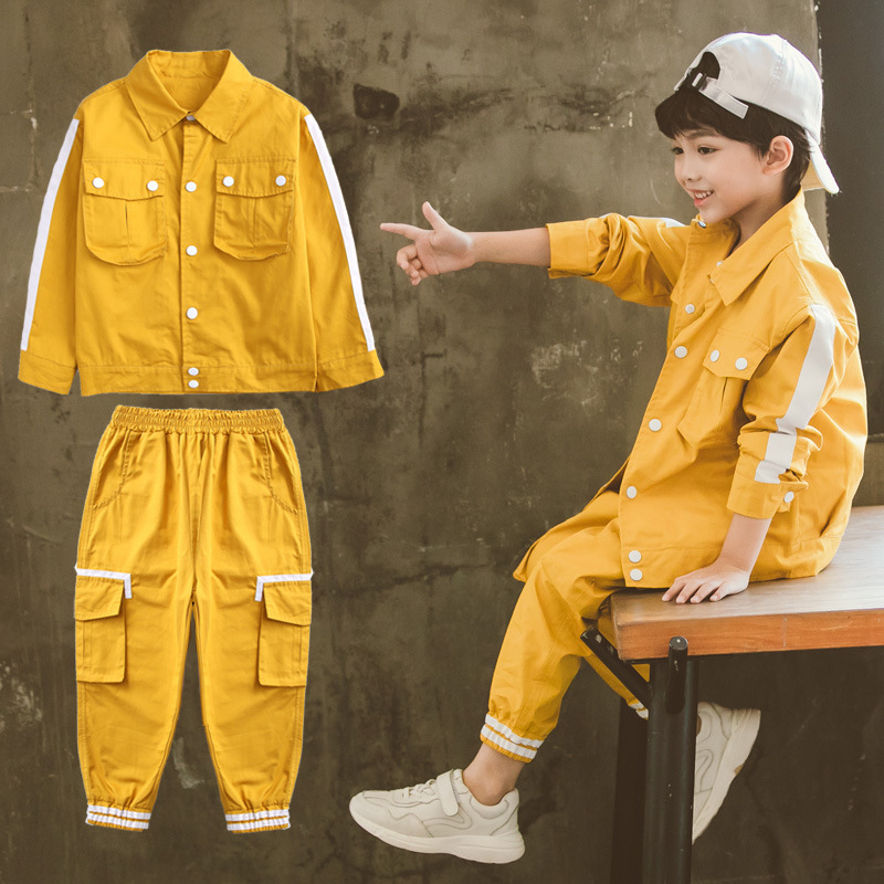 Teen Boys Clothing Set Casual Kids Clothes Boys Sport Suit for Children 2019 Spring Print Striped Boys Outfits 10 12 boy clothes