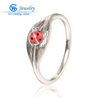 GW изделия Новый Bijoux Femme древних стиль животное кольцо Твердые серебряные кольца для женщин партии кольцо Анель де Прата 925 RIPY086H50