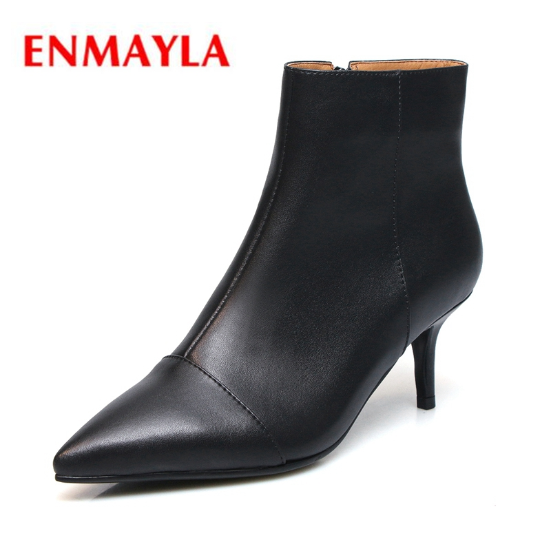 ENMAYLA  Pointed Toe  Basic  Ankle  Zip  Thin Heels  Zapatos De Mujer  Womens Shoes  Boots Women  Size 34-42 ZYL1886ENMAYLA  Pointed Toe  Basic  Ankle  Zip  Thin Heels  Zapatos De Mujer  Womens Shoes  Boots Women  Size 34-42 ZYL1886