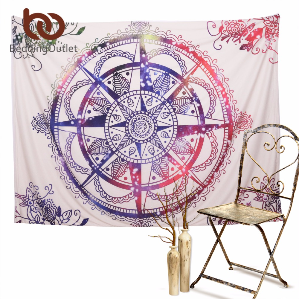 Beddingoutlet clock tapestry colorful sheet for home for Fomic sheet wall hanging