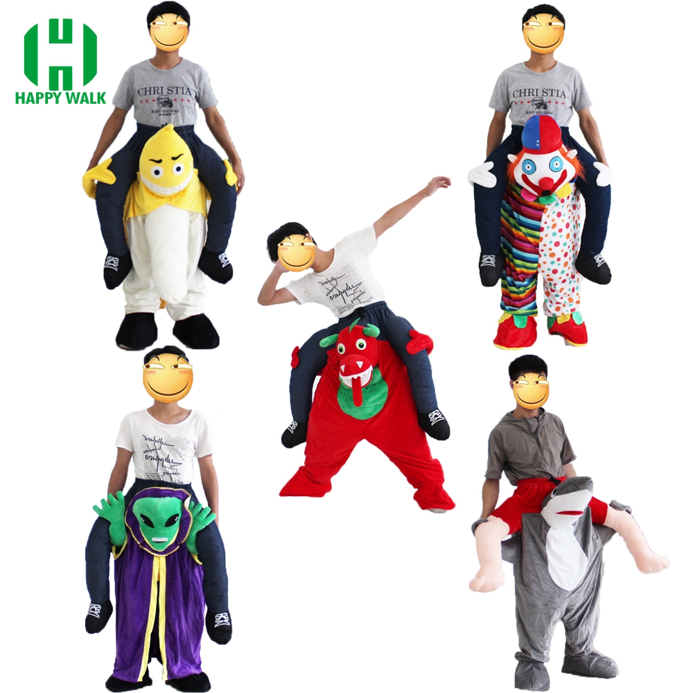Funny Ride on Me Mascot Cosplay Costumes Carry Back Funny Pants Dress Up Halloween Costume Carnival Party Suit for 170cm-185cm