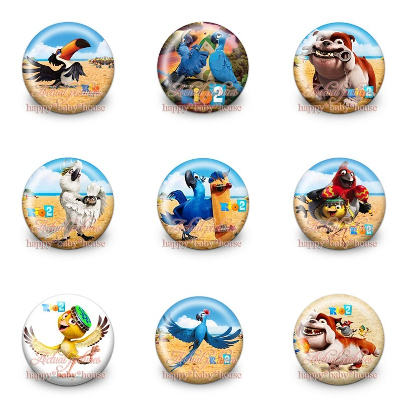 Bag Parts & Accessories Novelty 45pcs Kung Fu Panda 30mm Diameter Cartoon Buttons Pins Badges Round Badges Childrens Gifts Kids Bags Decoration