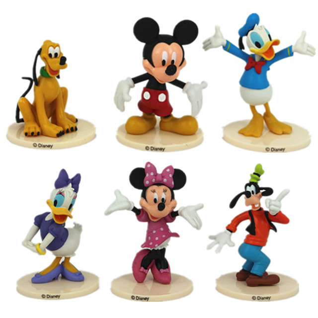 Mickey & Minnie Mouse Action Figure Kid Figurines Set Toy Cake ...