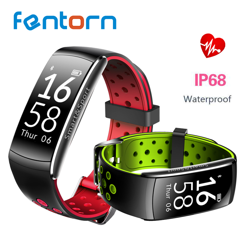 Fentorn Q8 frequenza cardiaca Intelligente Banda 2 Sport Intelligente Wristband Impermeabile inseguitore Palestra Braccialetto Intelligente banda Con Call SMS alert