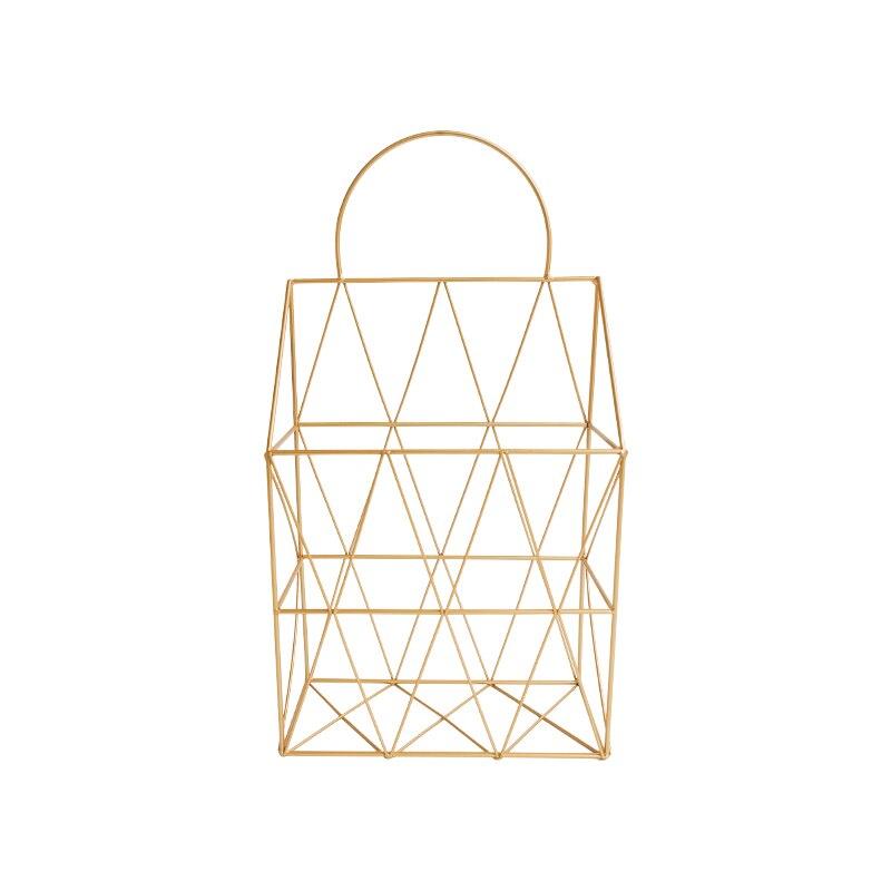 Gold metall Nordic Modernen Magazin Newpaper Ablagekorb Barrel ...