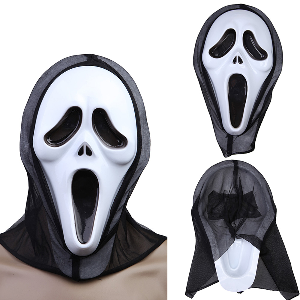Halloween Costume Party Long Face Very Scary Horror Terrible Mask ...