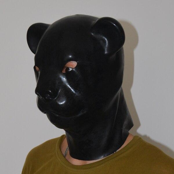 (LS05) fétiche Latex pleine tête latex cochon chien chat léopard loup cheval animal tête esclave masque en caoutchouc capuche SM masque étouffant