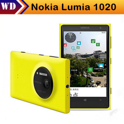 "Original Nokia Lumia 1020 Nokia Windows Phone 8 Dual Core 4.5"" Screen 32G ROM Camera 41MP NFC Bluetooth 3G / 4G Cell phone"