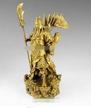Chinese bronze brass Nine Dragon Warrior Statue Figure10H Brass Fine Arts Crafts decoration